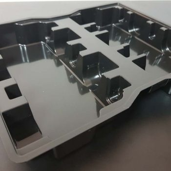 Black Thermoformed Plastic Tray